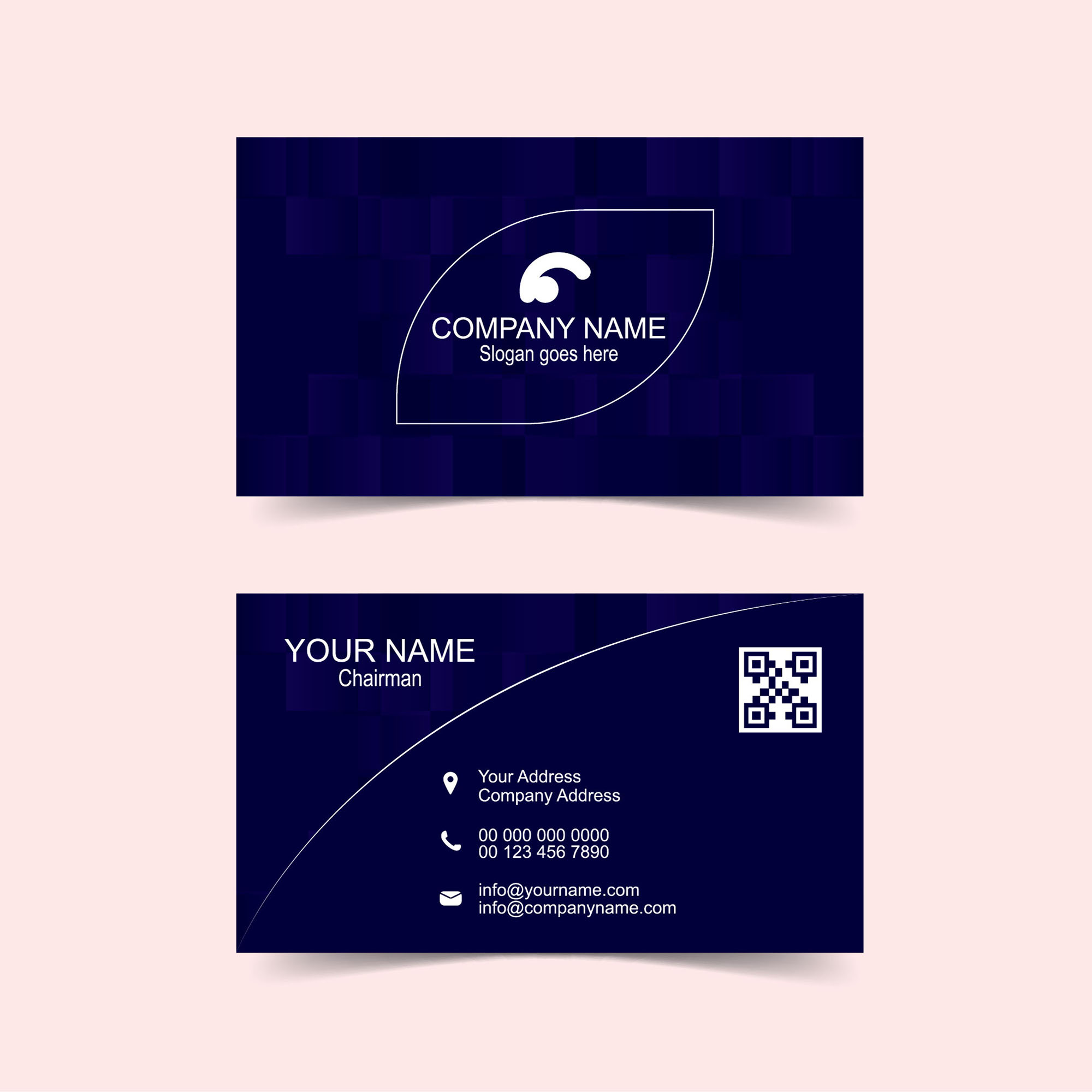 Abstract modern blue business card design wisxi business card business cards business card design business card template design templates wajeb Choice Image
