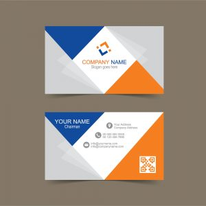 Business card template in illustrator