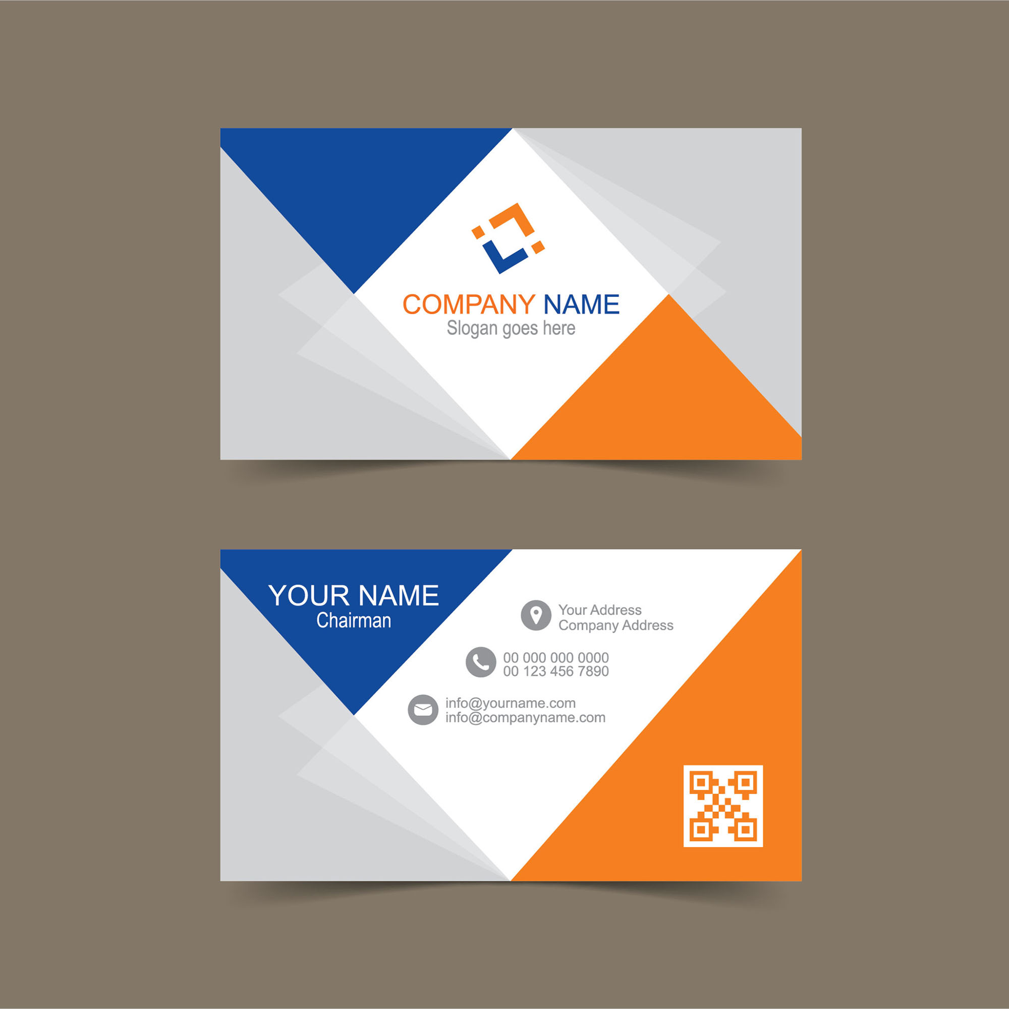 Free business card template for Illustrator - Wisxi.com