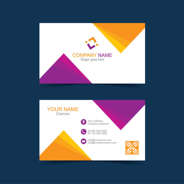 Creative abstract business card design