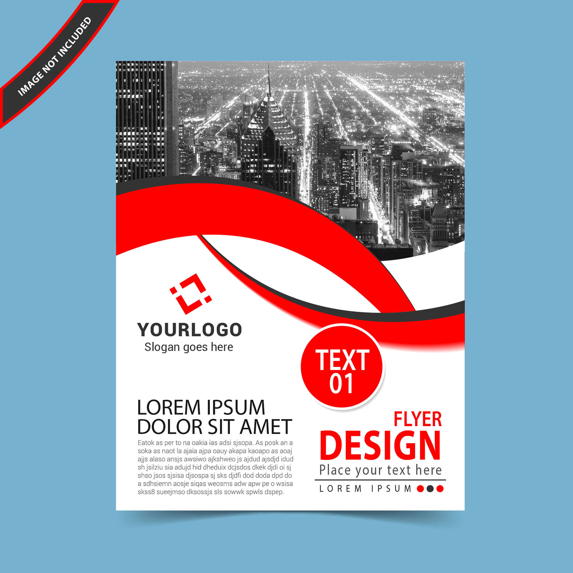 flyer design template vector free download