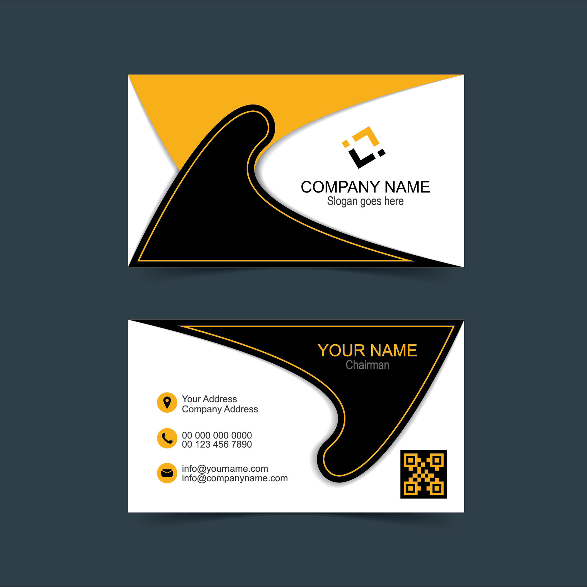 Professional Designer Business Card Free Download Wisxicom - Free business card layout template
