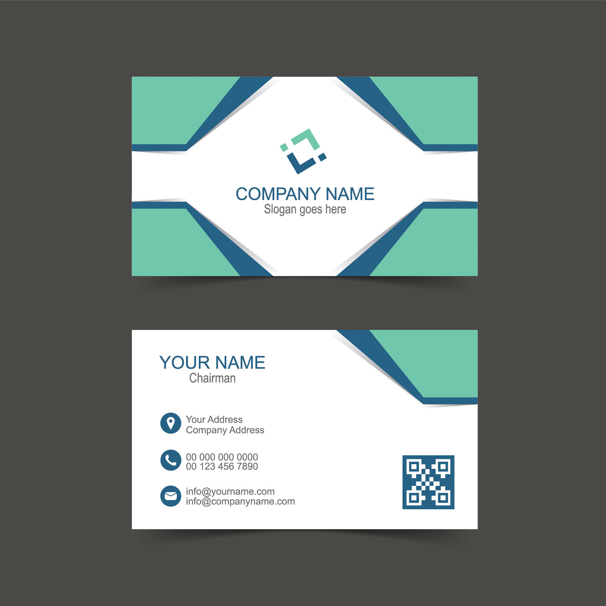 Creative Name Card Template Free Download Wisxicom - Free business card layout template