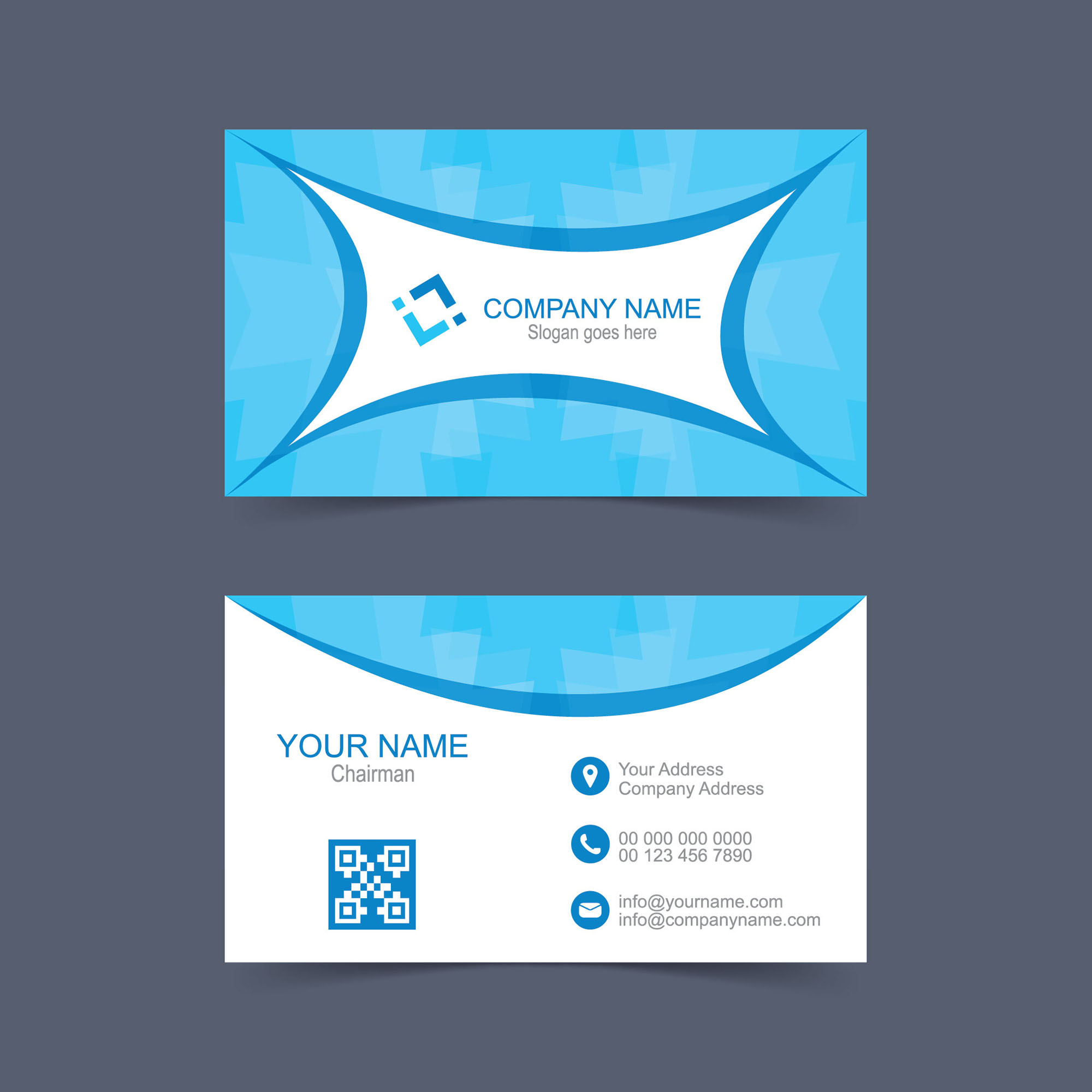 Name Card Design Template Free Download Wisxicom - Name card template