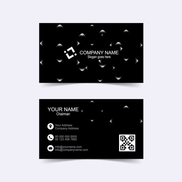 Black business card template free download wisxi fbccfo Images