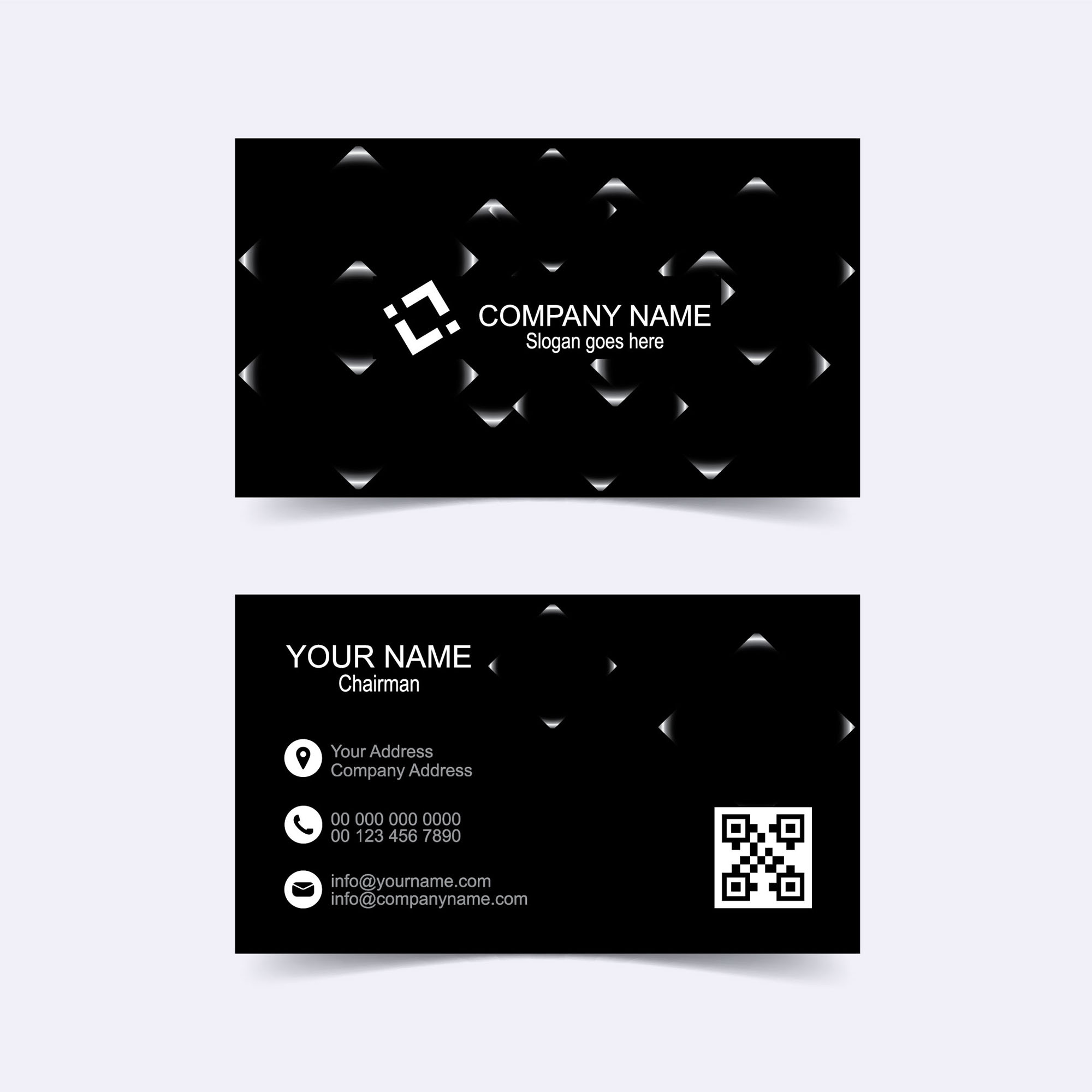 Black business card template free download wisxi business card business cards business card design business card template design templates fbccfo Image collections