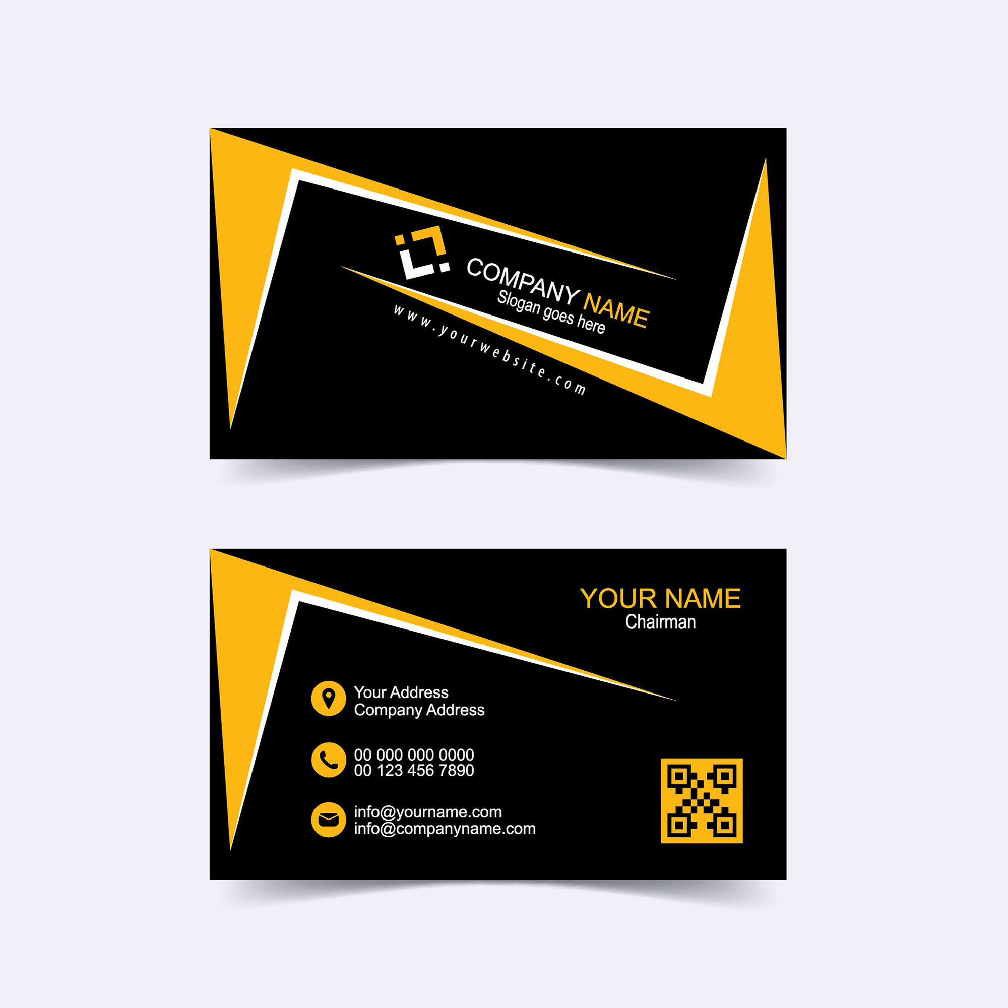 modern business card template vector free download wisxicom
