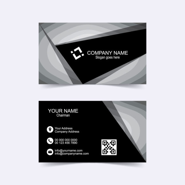 Abstract triangle business card template