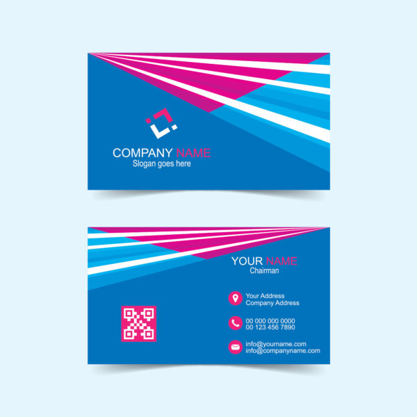 Visiting card design vector