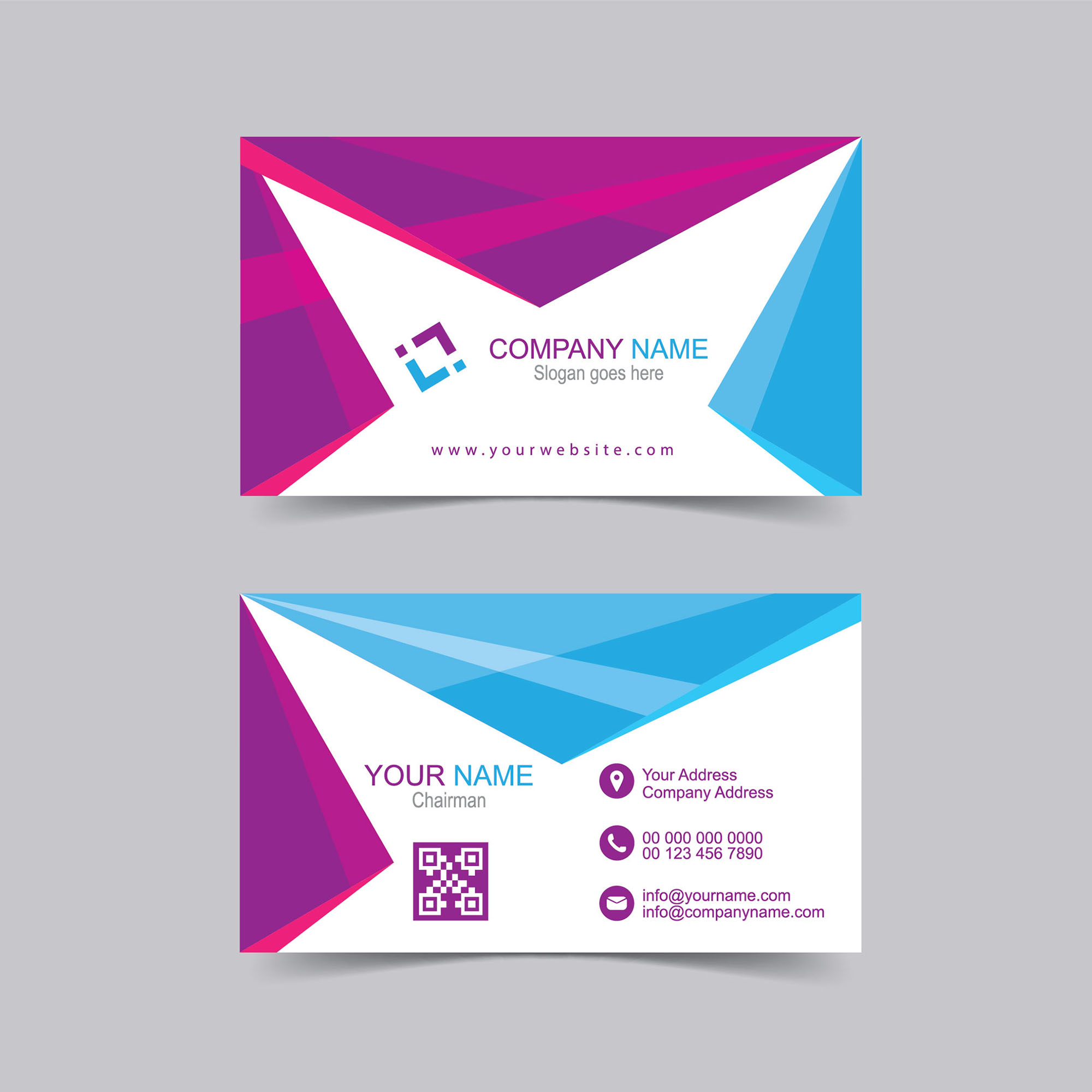 Visiting Card Vector Template Free Download - Wisxi.com