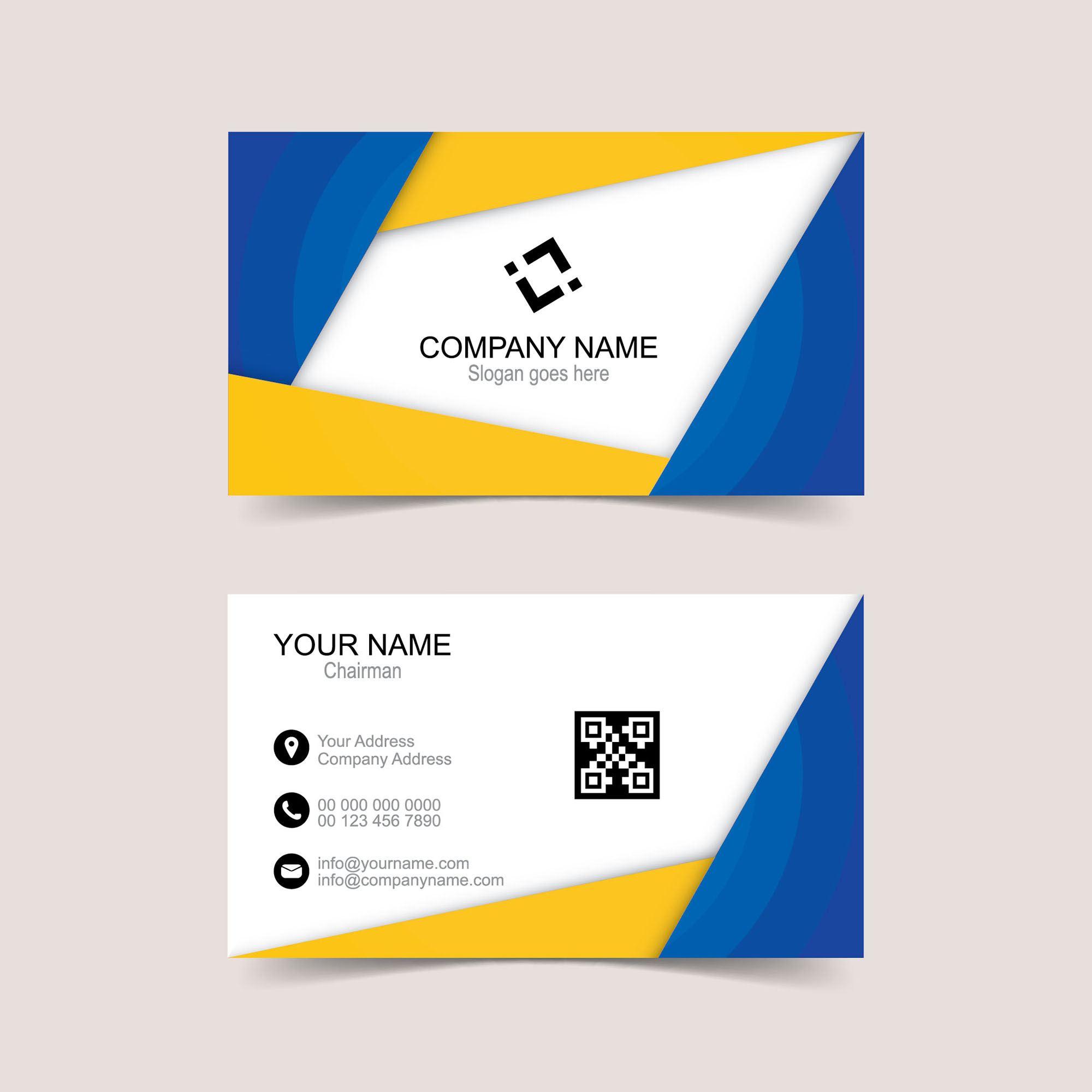 Vector Creative Business Card Template Free Download Wisxicom - Free business card layout template