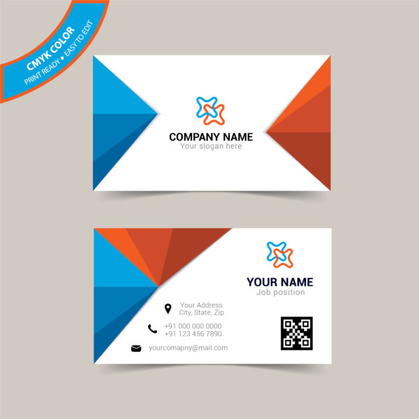 Double sided creative business card