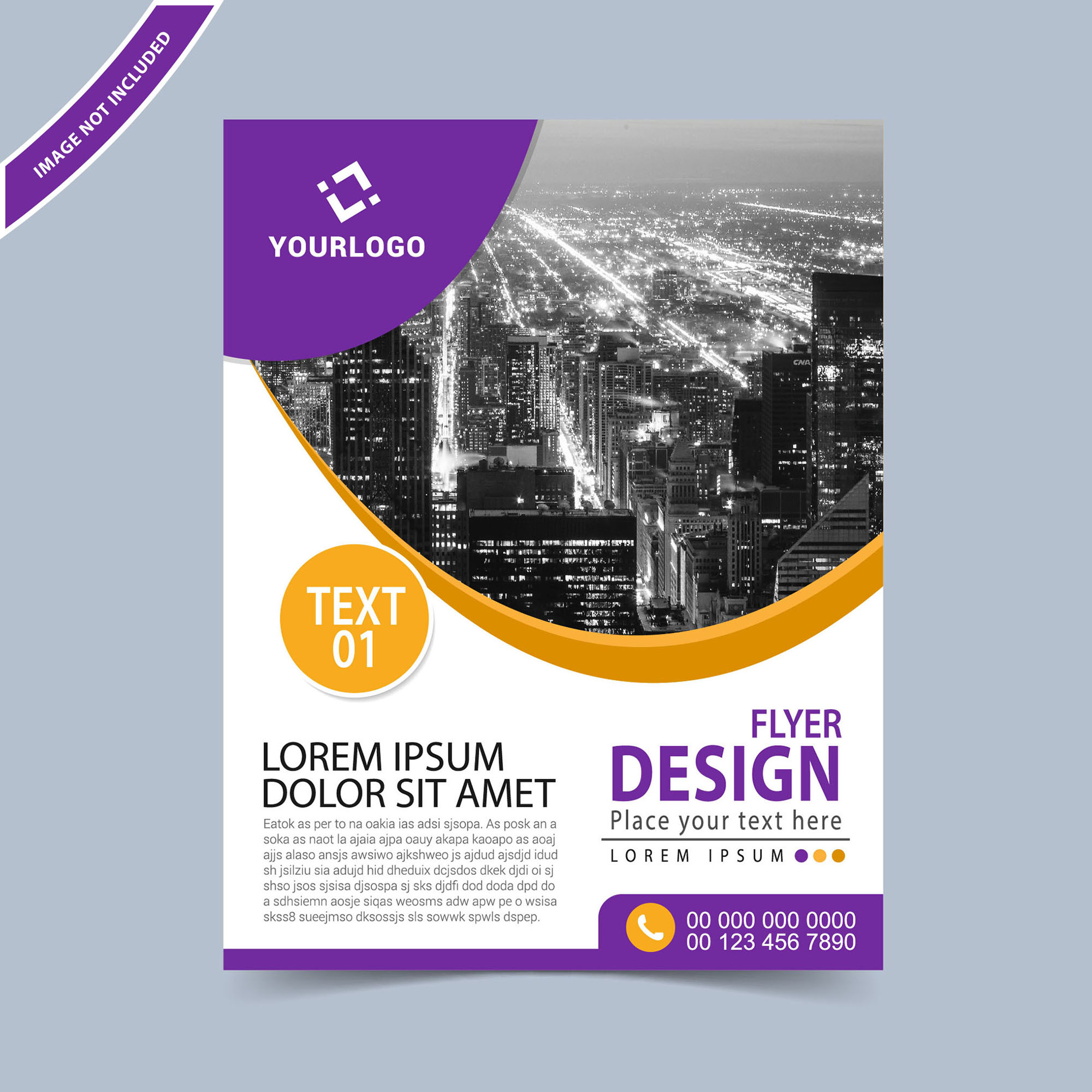 business flyer design template free download