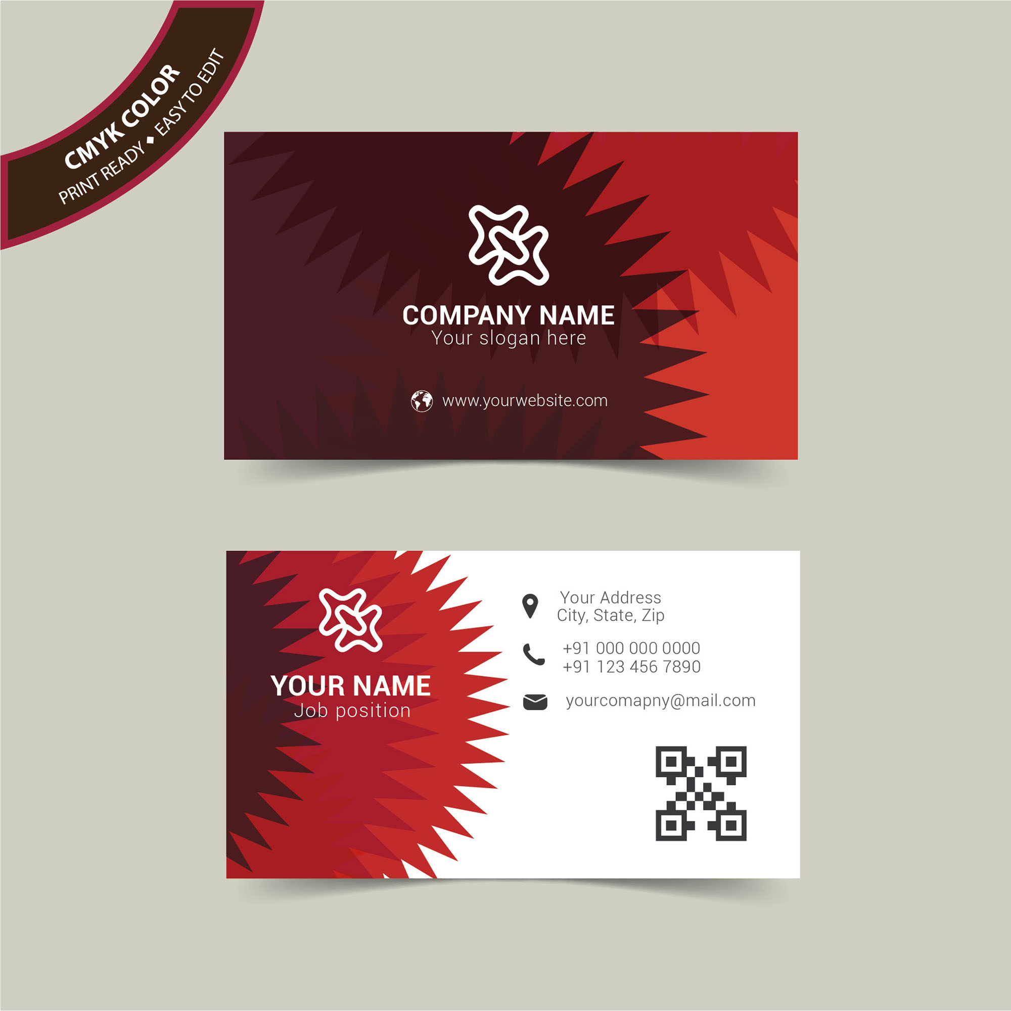 Abstract Professional Business Card Free Download Wisxicom - Business cards examples templates