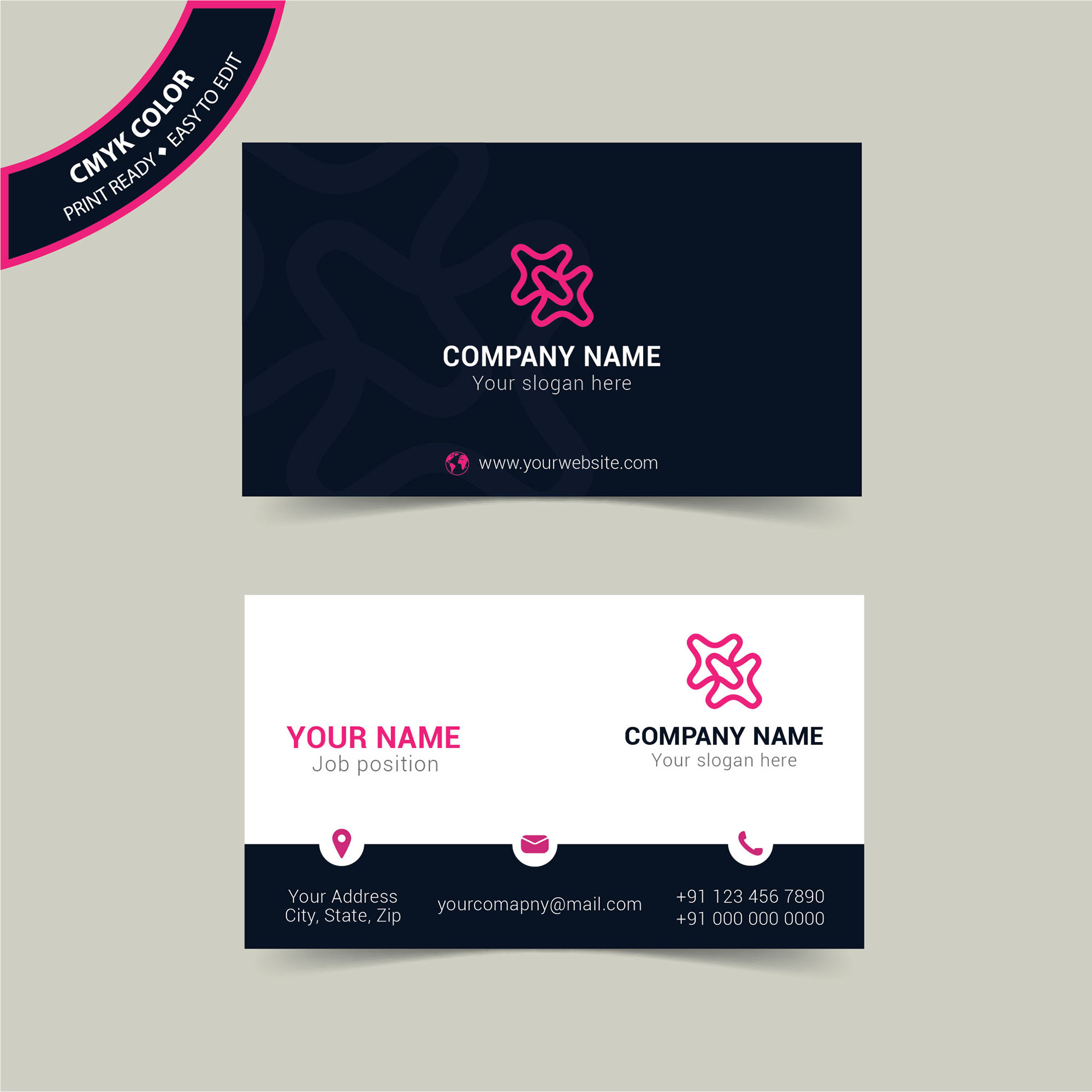Modern simple business card template free download - Wisxi.com