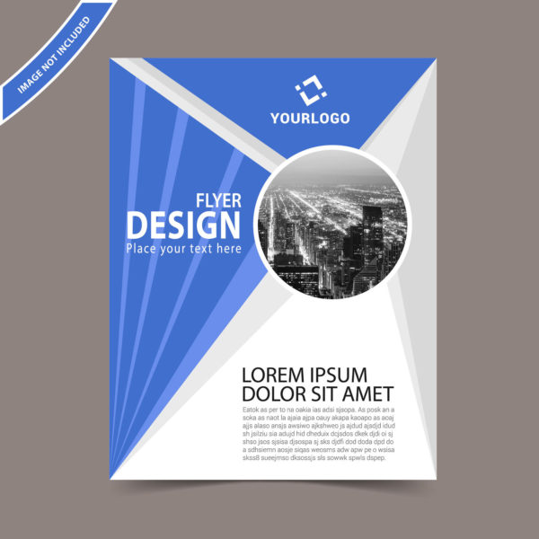 Vector Flyer Template Free Download Print Ready Wisxicom