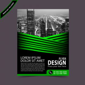 Abstract green flyer design