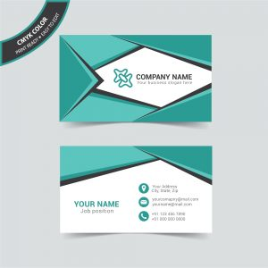 Triangle business card design