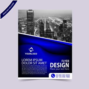 Creative blue flyer design