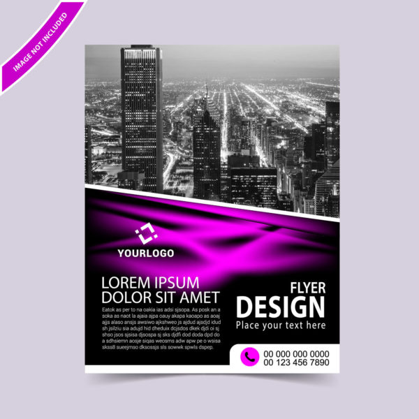 Abstract wavy flyer template
