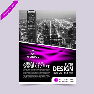 Abstract wave flyer template