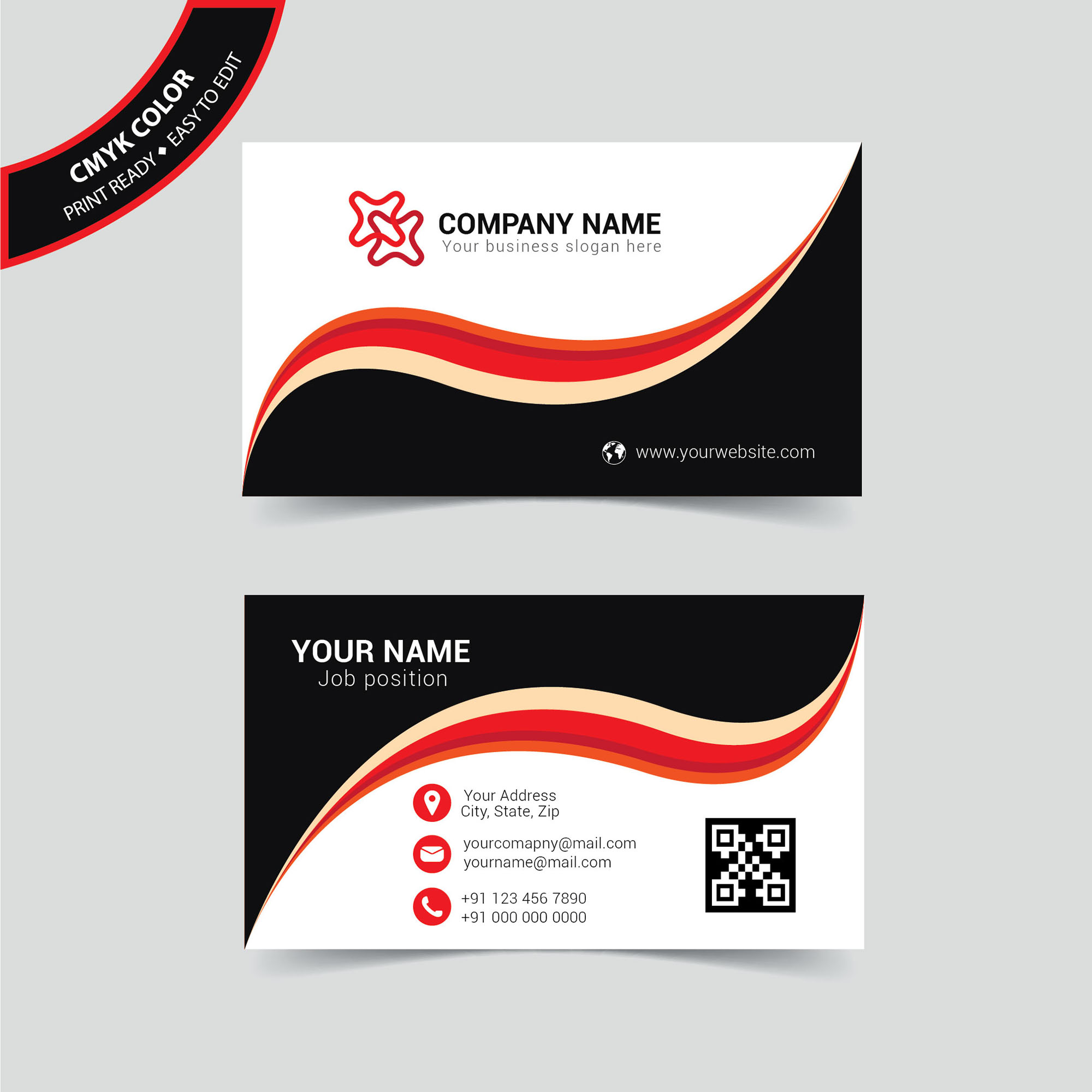 Corporate name card design free download wisxi business card business cards business card design business card template design templates accmission Image collections
