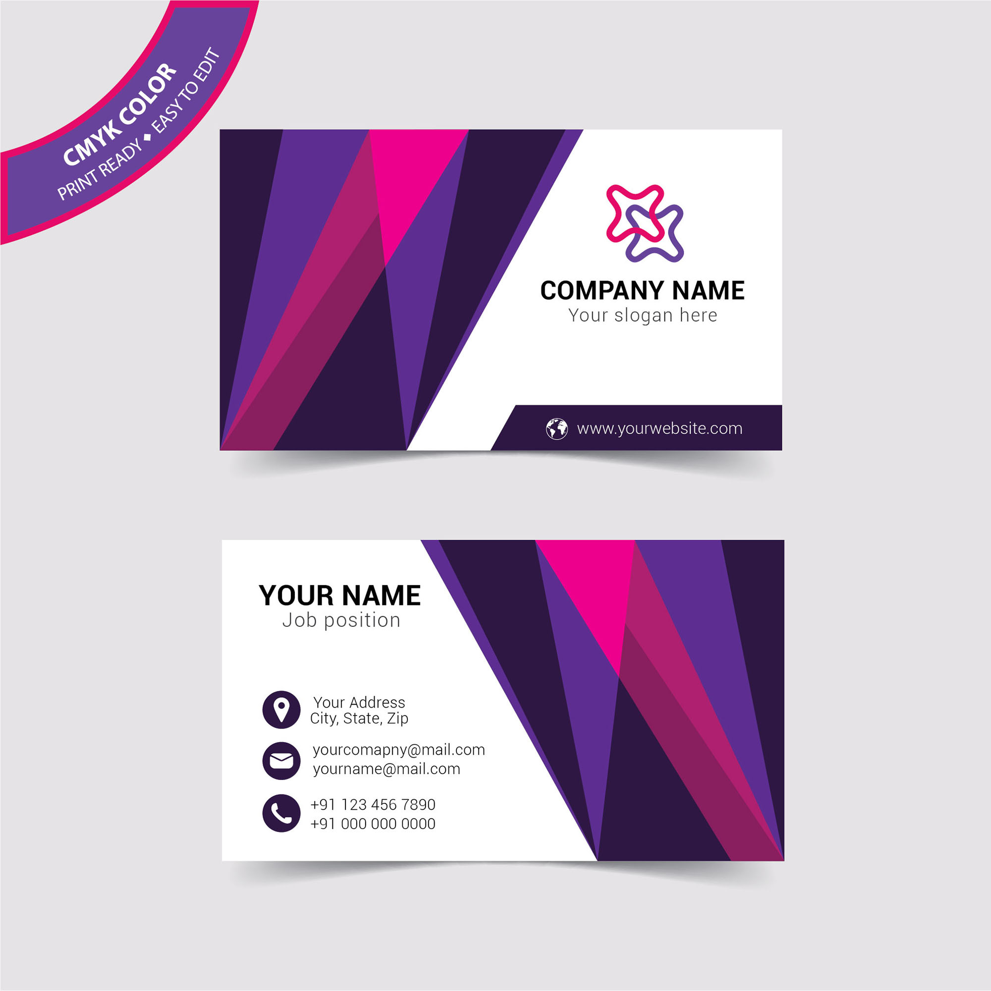 Clean Corporate Business Card Free Download - Wisxi.com