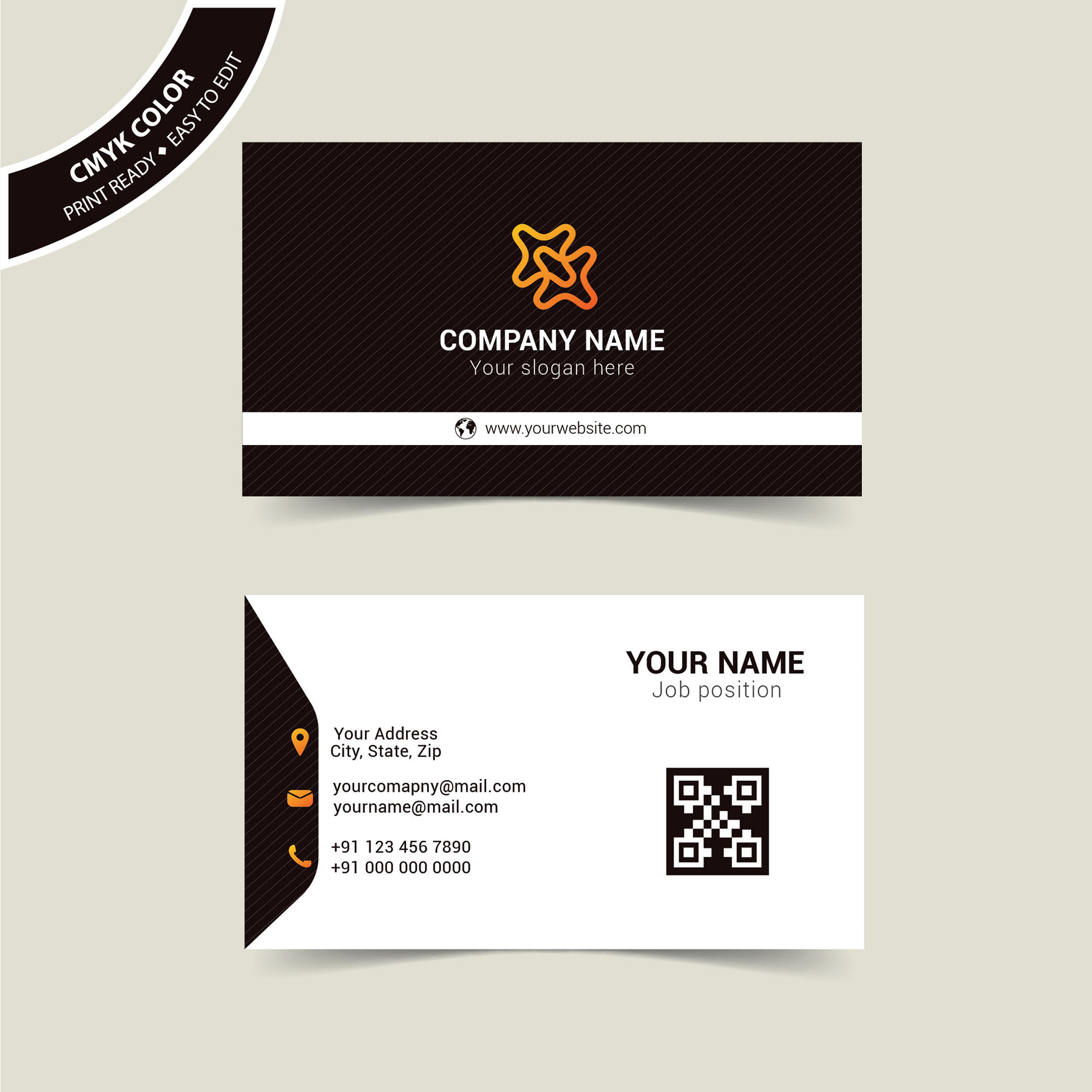 Business Cards Free Vector Download - Print Ready - Wisxi.com