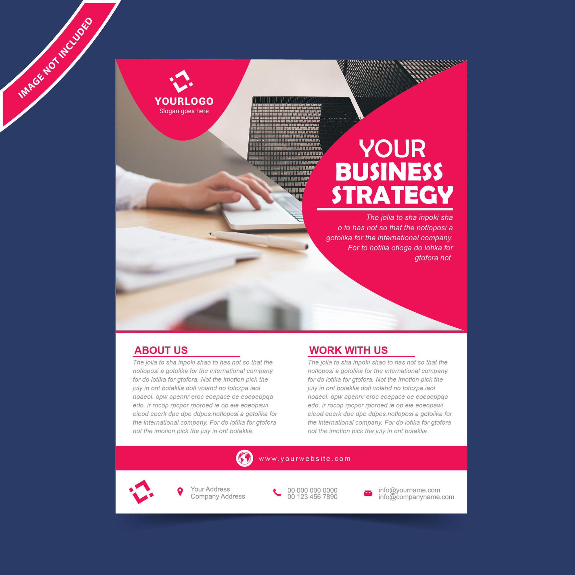 Flyer brochure design template free download for Free template brochure design
