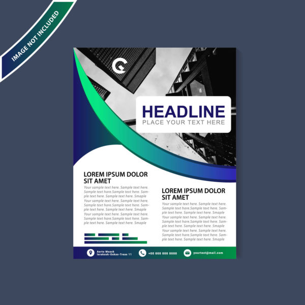Abstract flyer design background