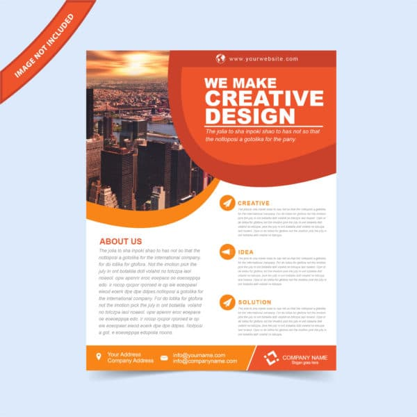 EPS flyer template