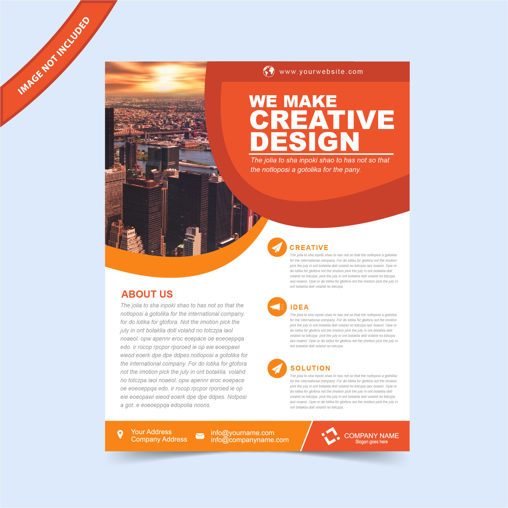 EPS Flyer Template Free Download Print Ready Wisxicom - Free templates for brochures and flyers