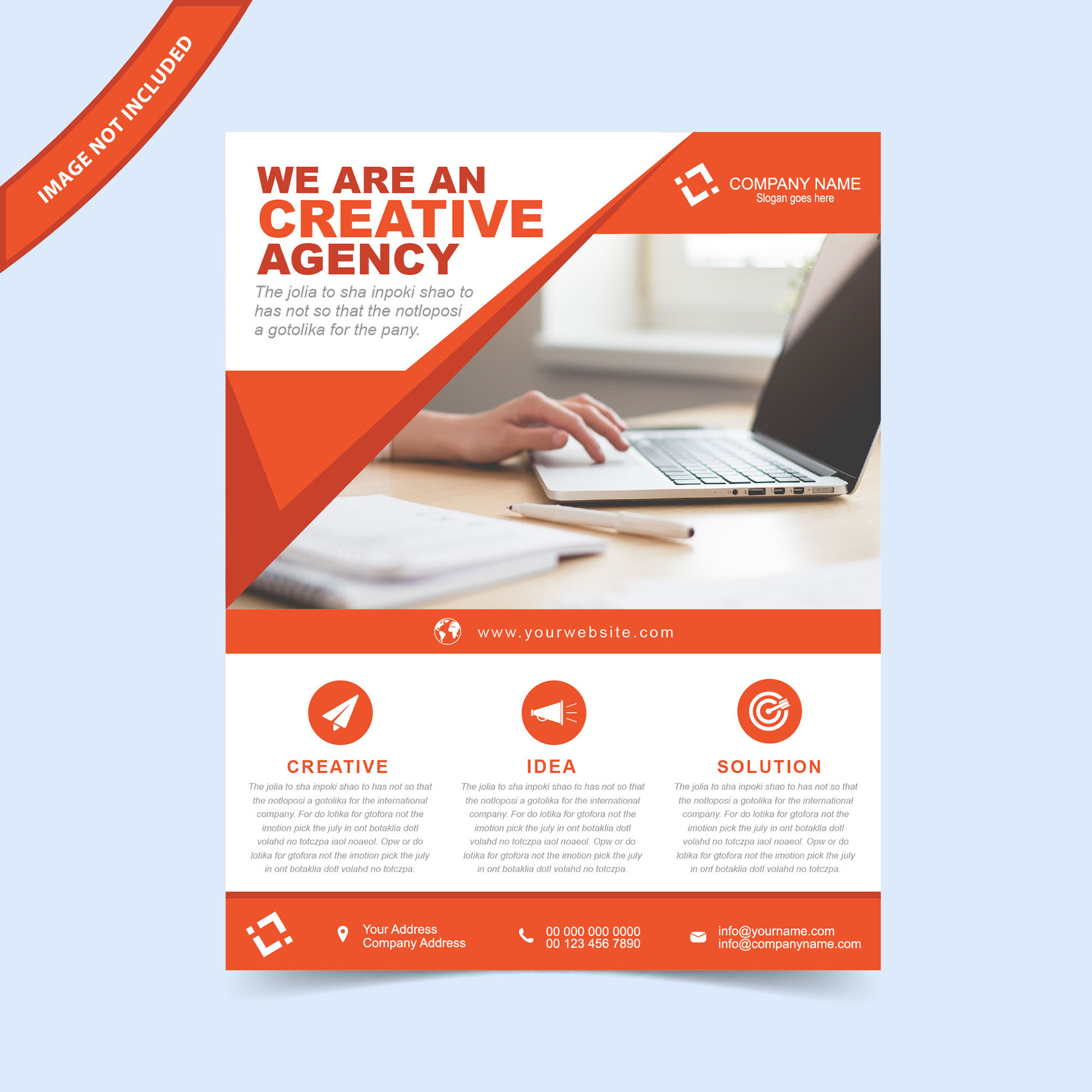 flyers flyer design flyer template free flyer design abstract business - Marketing Brochure Template