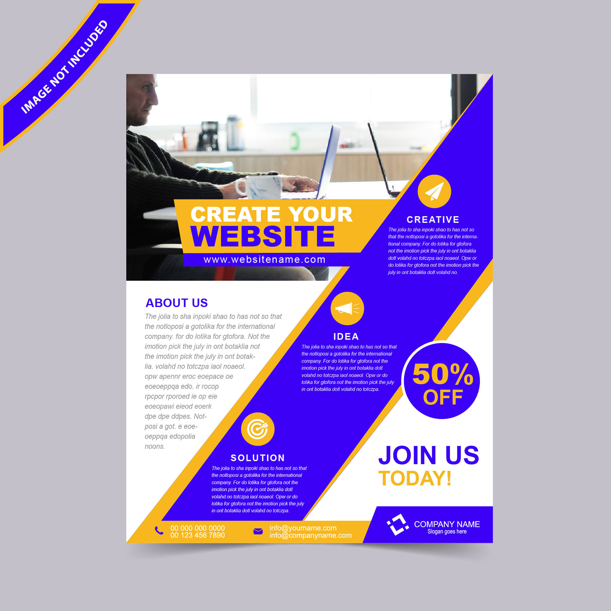 Web design flyer template free download wisxi flyers flyer design flyer template free flyer design abstract business flashek Image collections