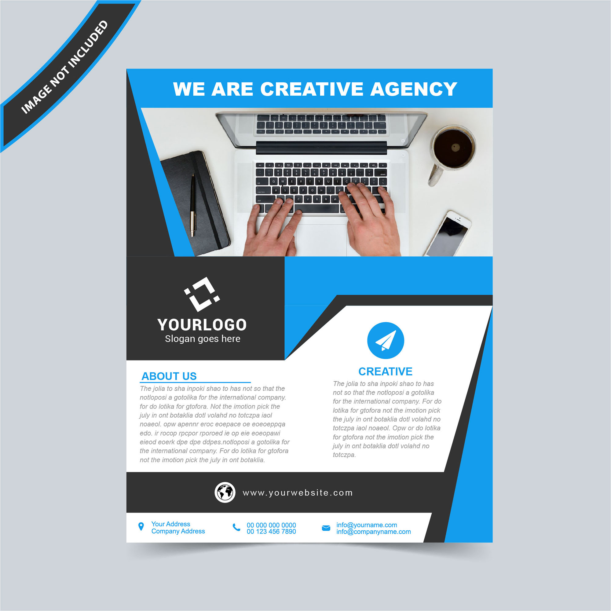 flyer design vector template free download