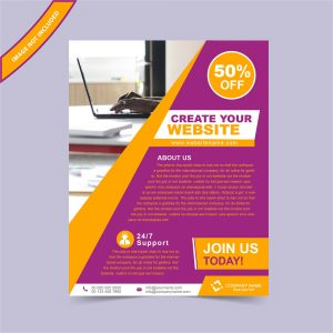 Custom corporate flyer template
