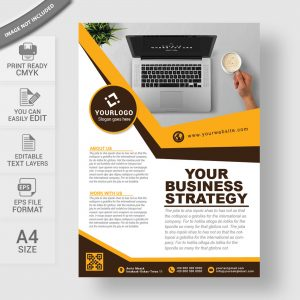 Modern corporate business flyer design