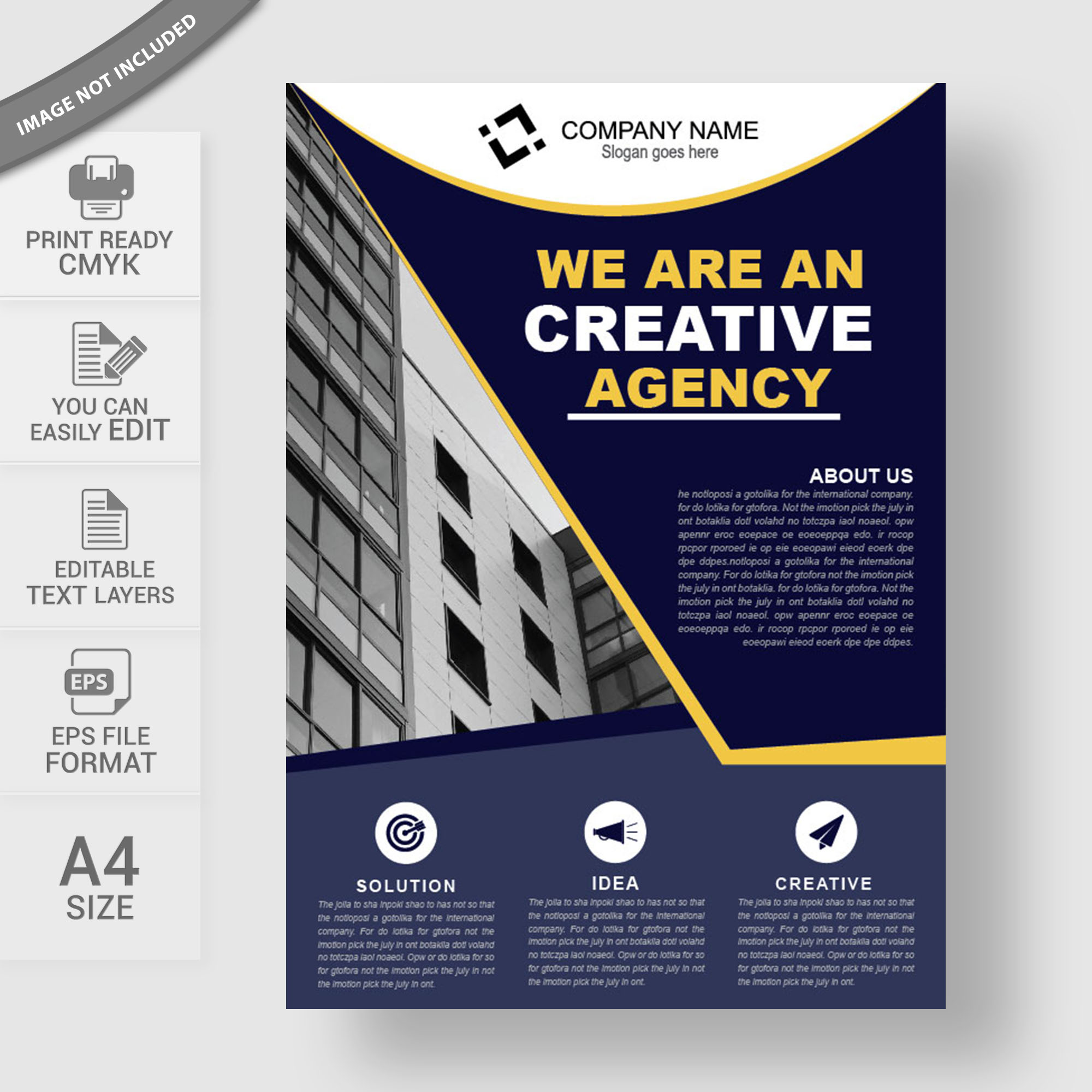 Modern Corporate Flyer Template Free Download Wisxicom - Business advertising flyers templates free