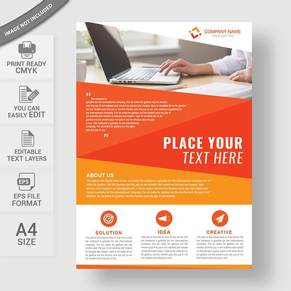 Corporate business flyer design template in A4 Layout