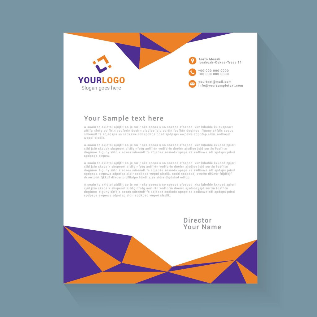abstract geometric letterhead design free download