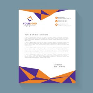 Abstract geometric letterhead design