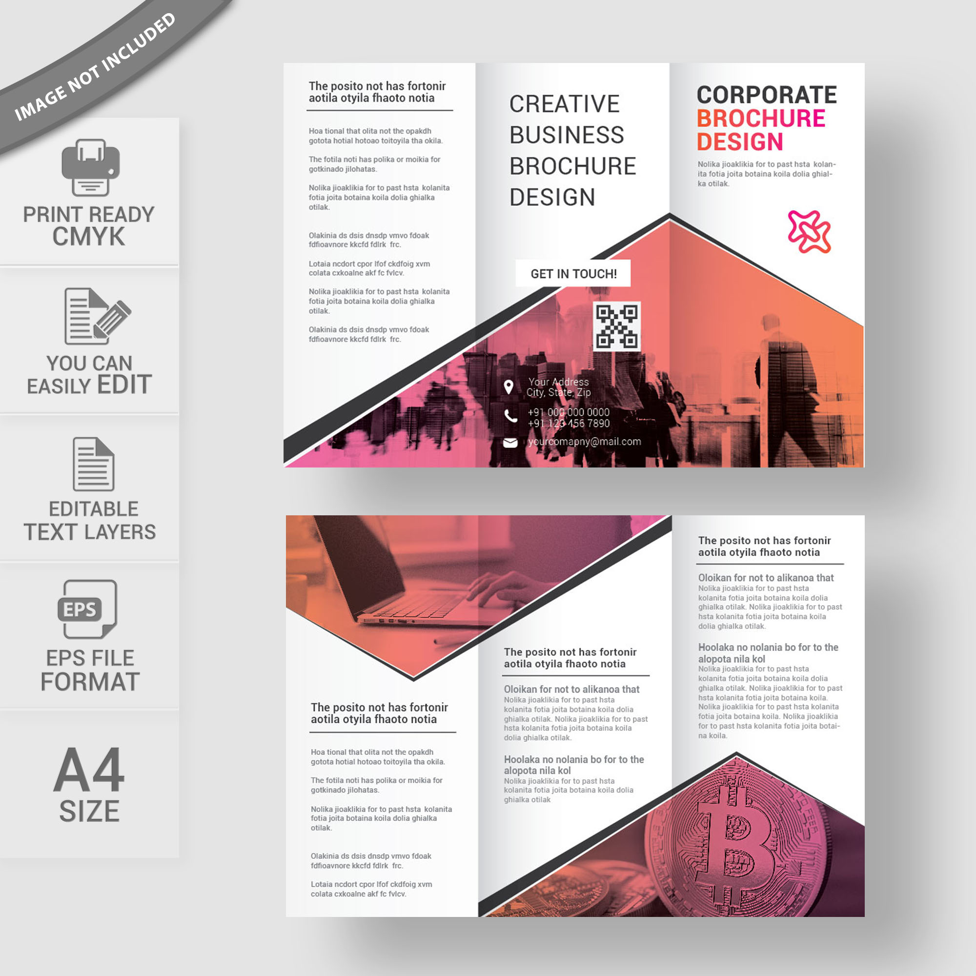Business Brochure Template Free Download Wisxicom - Business brochures templates