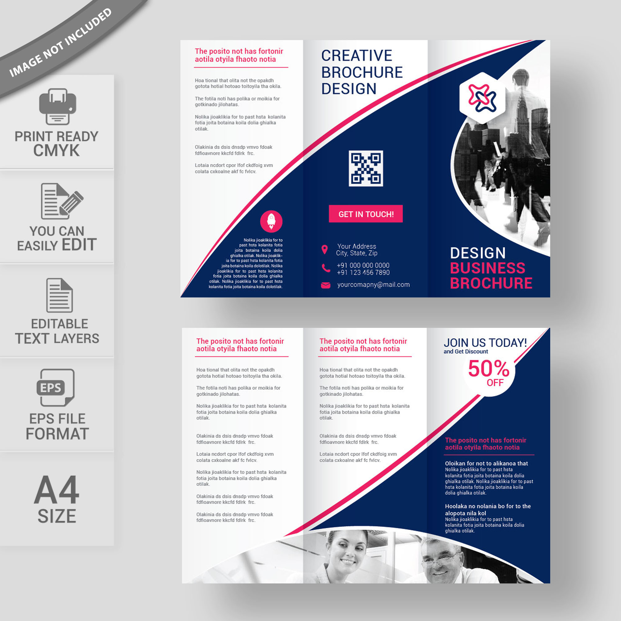 Corporate Tri Fold Brochure Template Free Download Wisxicom - Tri fold brochure templates free download