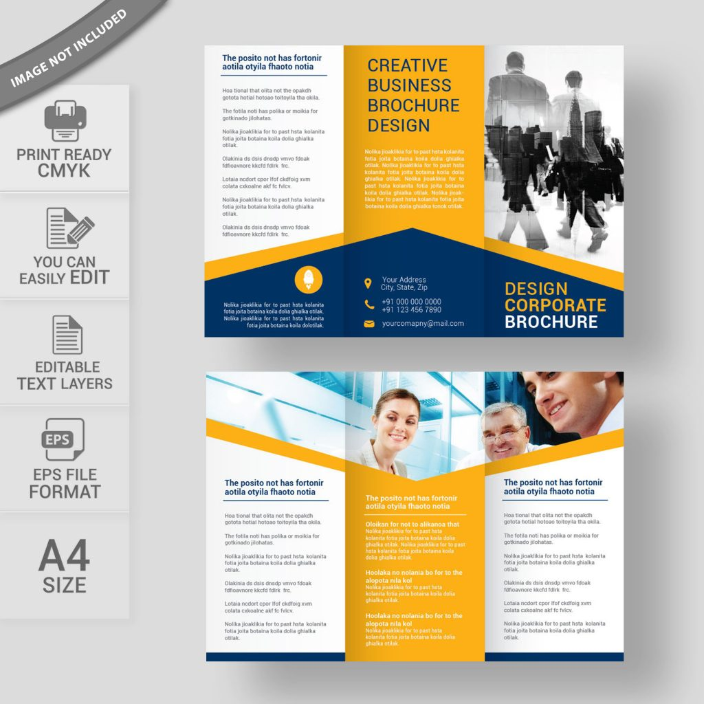 Free brochure design download for commercial use for Commercial brochure templates