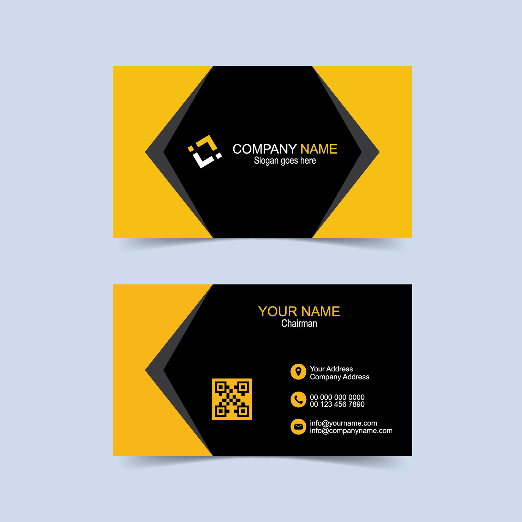 Free Business Card Design Download - Print Ready - Wisxi.com