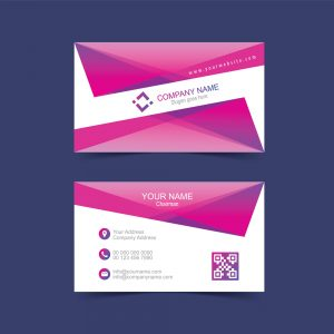 Modern visiting card design