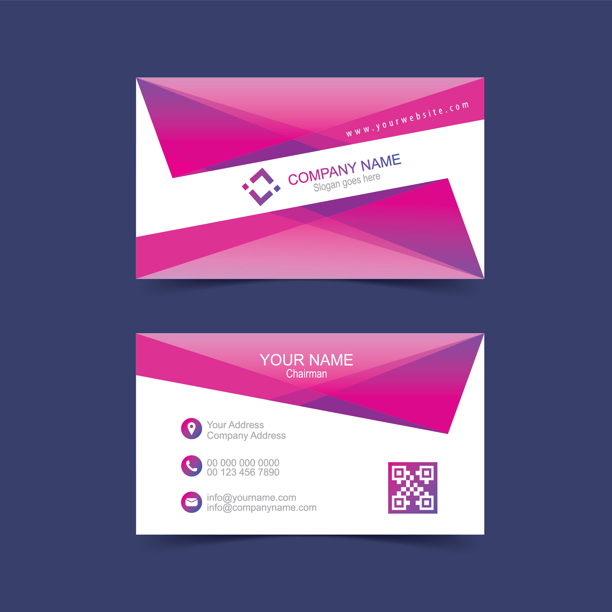 Modern Visiting Card Design Free Download - Wisxi.com