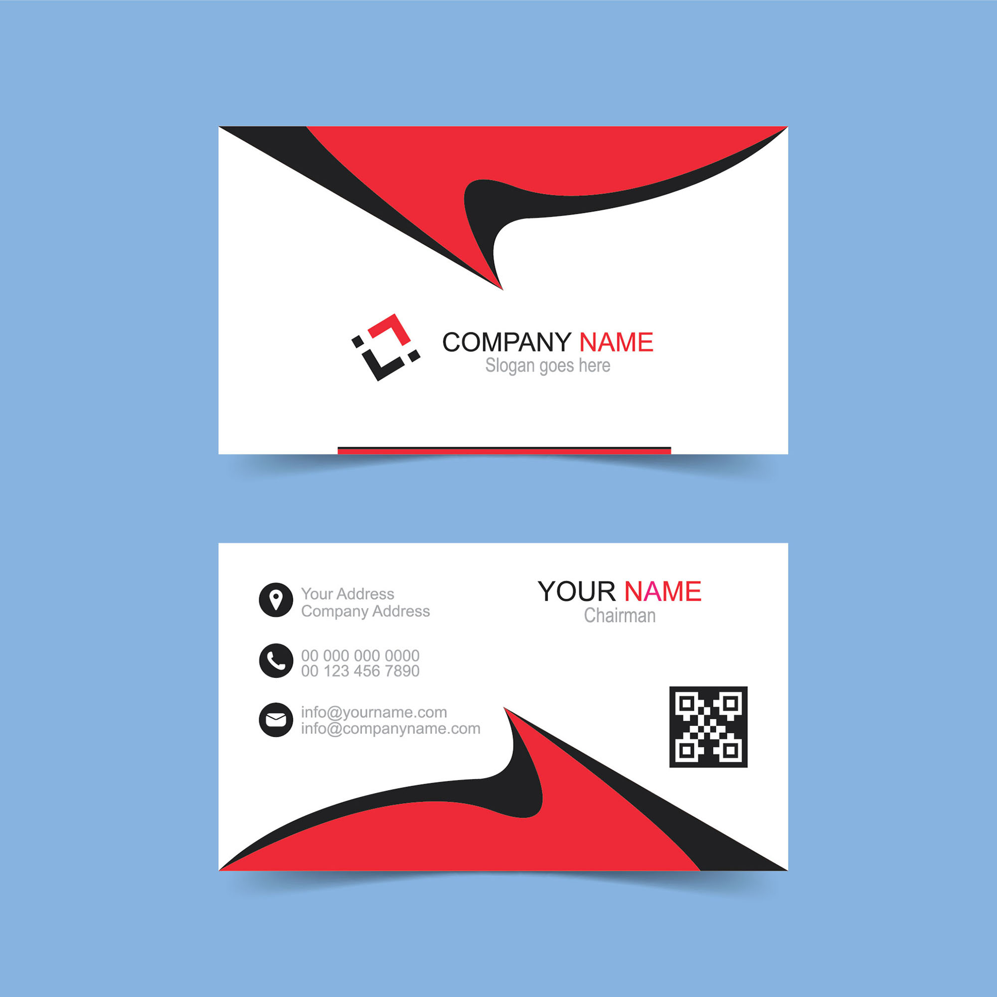Double Sided Business Card Free Download - Wisxi.com
