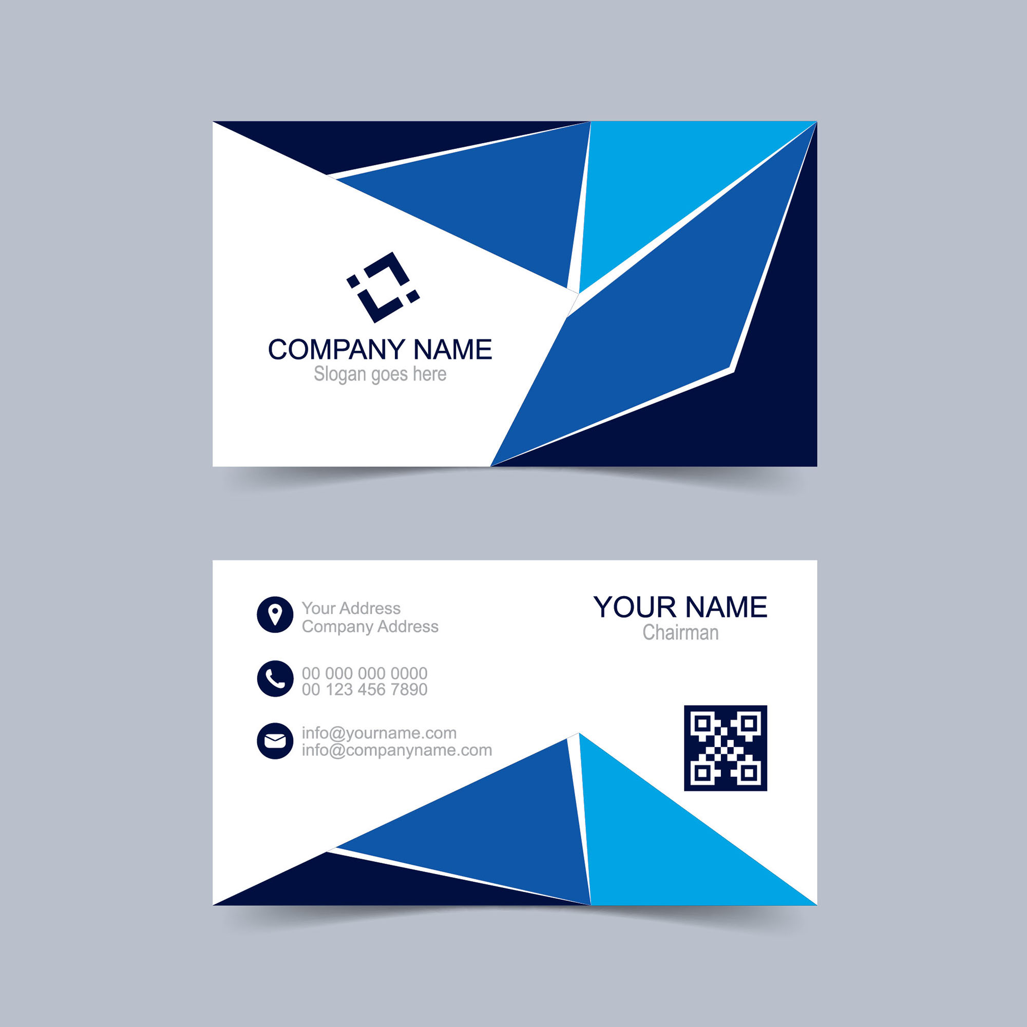 Creative Business Card Design Free Download Wisxicom - Free business card layout template
