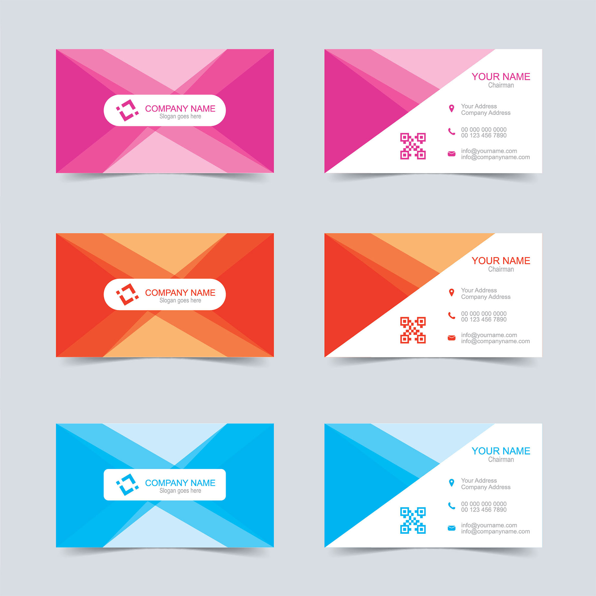 Vector Business Card Template Free Download Wisxicom - Business card design template free